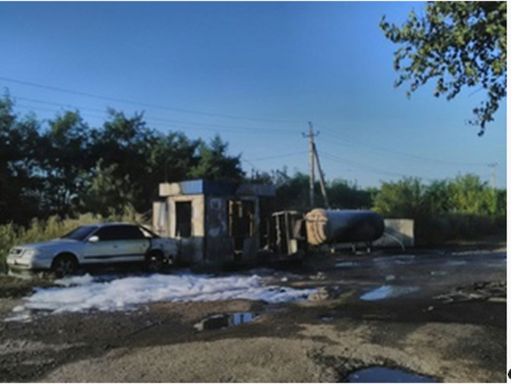 У Тарасівці горіла нелегальна газова заправка